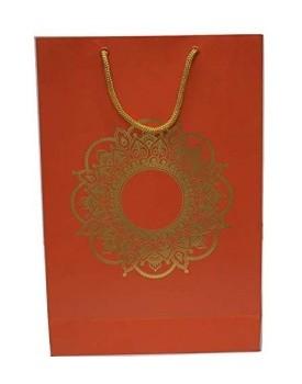 Golden Foil Rangoli Print Design Paper Bag