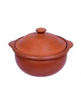 MITTI MAGIC's - KADAI(1.5 LTR): Earthen Handmade & Unglazed Kadai for Cooking Curry/Dal/Sambar/Veggies & Other General Cooking