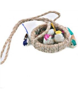 AK Store Jute Craft Rope Made Hanging Nest Birds for Home, Terrace, Balcony, Patio, Garden décor, School Project