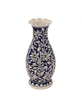 Craftghar Decorative Flower Vase for Living Room | Made of Ceramic 12 inch Long Vase | Handmade Flower Vase Ceramic | Ideal Diwali Gifts for Family and Friends