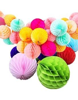 Jiada Honeycomb Party Decoration Balls (Set of 6)