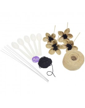 Asian Hobby Crafts DIY Jute Flower Making Kit