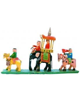 Fashion Bizz Wooden Handicraft Royal Maharaja Procession