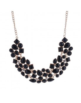 Shining Diva Fashion Latest Design Stylish Crystal Modern Choker Necklace for Women and Girls