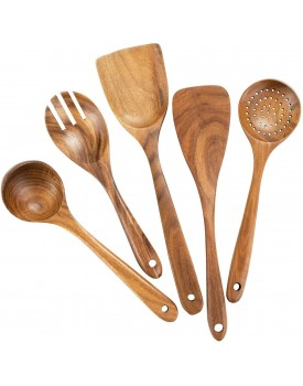 Handmade Wooden Non-Stick Serving and Cooking Spoon Kitchen Tools Utensil