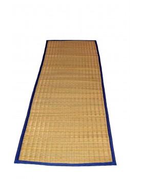 "MONTISA Handmade Organic Eco-Friendly Portable River Grass Mat/Natural Fibre mat/Korai Grass Mat/Reed Mat/Madurkathi Mat, Multipurpose Floor Mat/Meditation/Picnic/Yoga / (T2-03)- (24"" W x 65"" L)"
