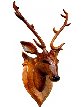 """Deer Head""44cm Wall Decor Wooden Handicraft showpieces Products"