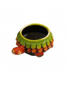 SHOPMEFAST Terracotta Decorative Bowl (Multi_7 Inch X 3.5 Inch X 7 Inch)