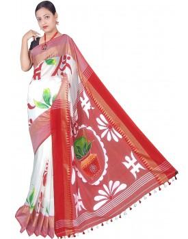Sanghamitra Handpaint Handloom Women's Cotton Saree