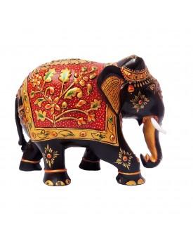 Krishna Handicraft Wooden Hand Painted Elephant