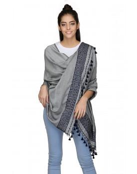 The Weave Traveller Handloom Hand Woven Solid Dupatta With Slub Work for Women's Girl's
