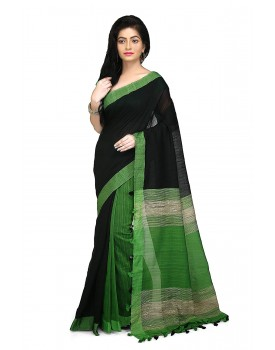 WoodenTant Women's Cotton Half Saree With Blouse Piece