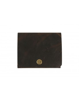 Strutt 100% Pure Leather Stitchless Handcrafted Crushed Brown Slim Men's Wallet