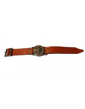 PARIJAT HANDICRAFT Wrist Brass Compass & Sundial-Watch With Leather Strap Sundial