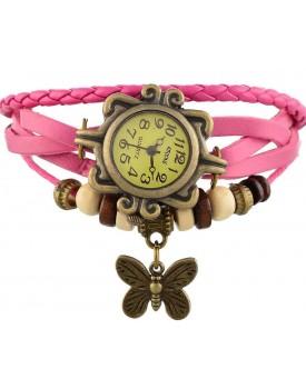 Meenakshi Handicraft Emporium Round Dial Analog Butterfly Watch For Women & Girls