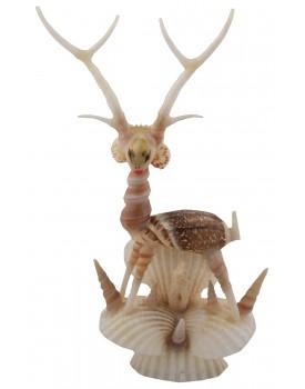 RADHAGOBINDA HANDICRAFT Sea Shell Handcrafted Deer Big Figurine