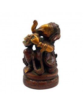 Kapasi Handicraft Brass Small Sitting Sea Shell Ganesh