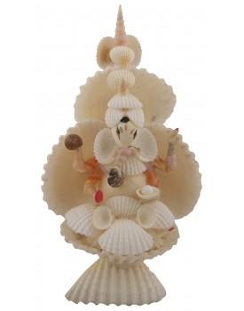 RADHAGOBINDA HANDICRAFT Sea Shell Handcrafted Lord Ganesh