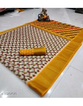 Soft Lenin cotton sarees