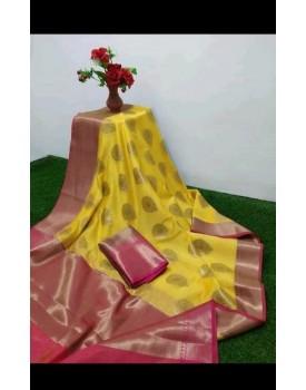 Cotton woven design saree