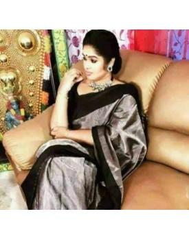 Uppada tissue cotton saree silk border