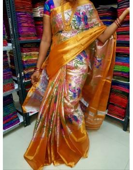 Uppada tissue cotton saree with Digital print