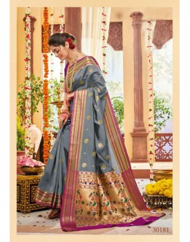 SOFT PURE BANARASI SILK Paithani style SAREE